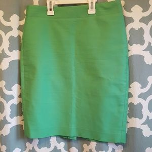 J. Crew Spring Green Pencil Skirt